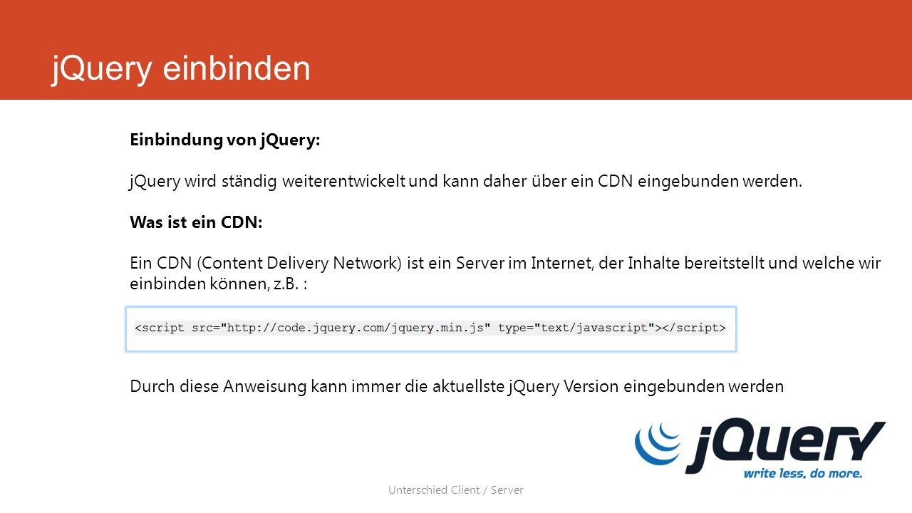 Unterschied Client / Server