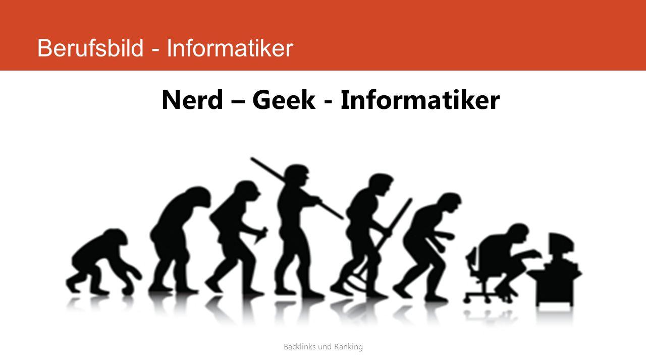 Berufsbild - Informatiker