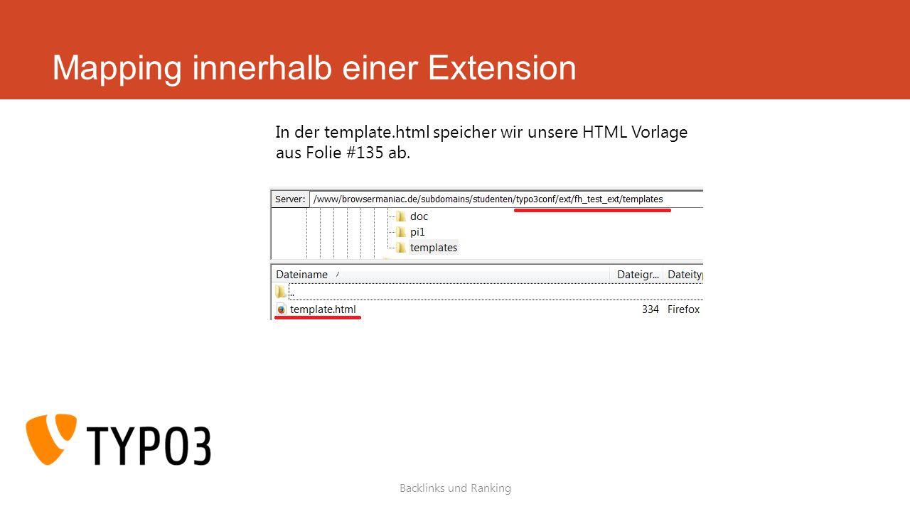 Mapping innerhalb einer Extension
