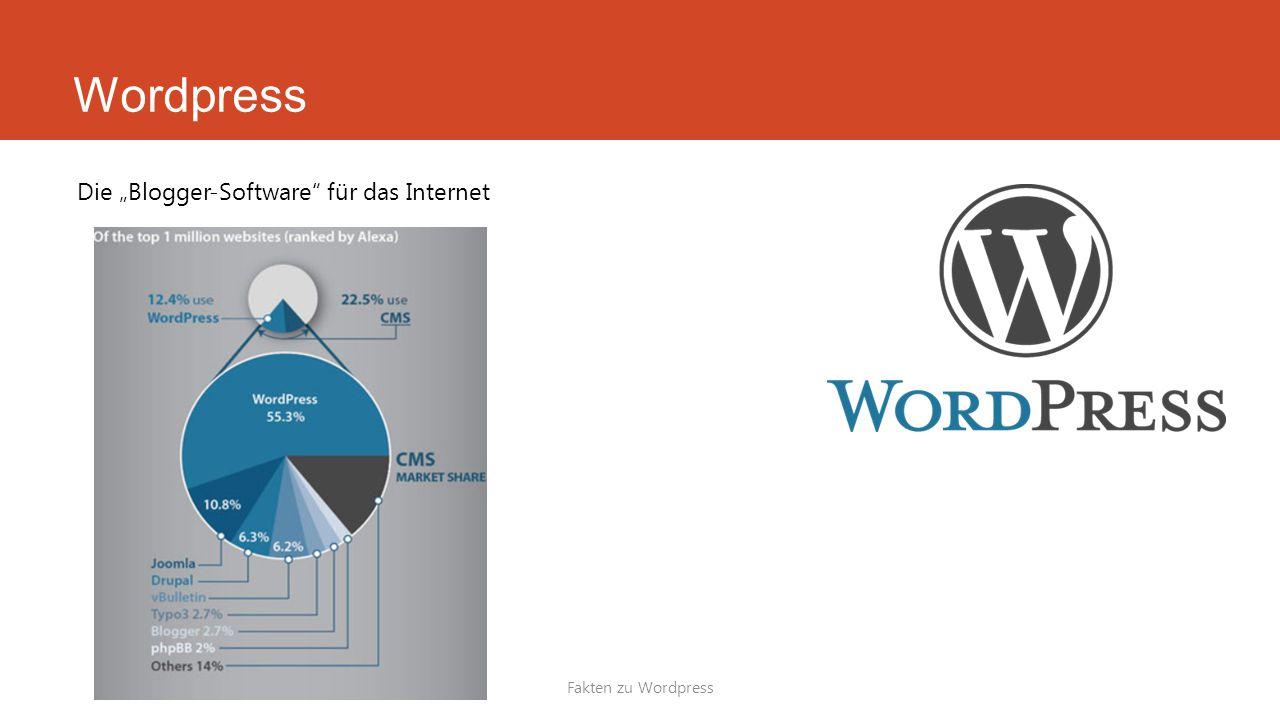 """Wordpress Die """"Blogger-Software für das Internet Fakten zu Wordpress"""