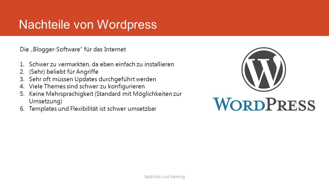Nachteile von Wordpress