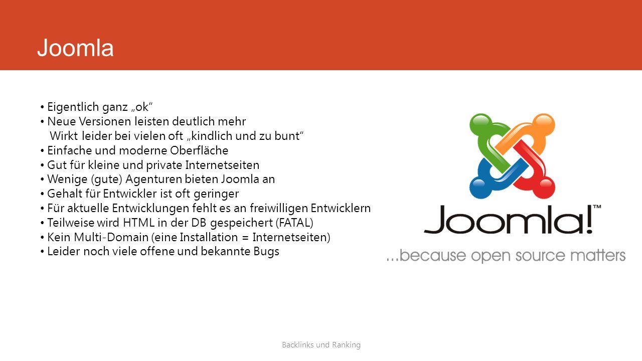"""Joomla Eigentlich ganz """"ok"""