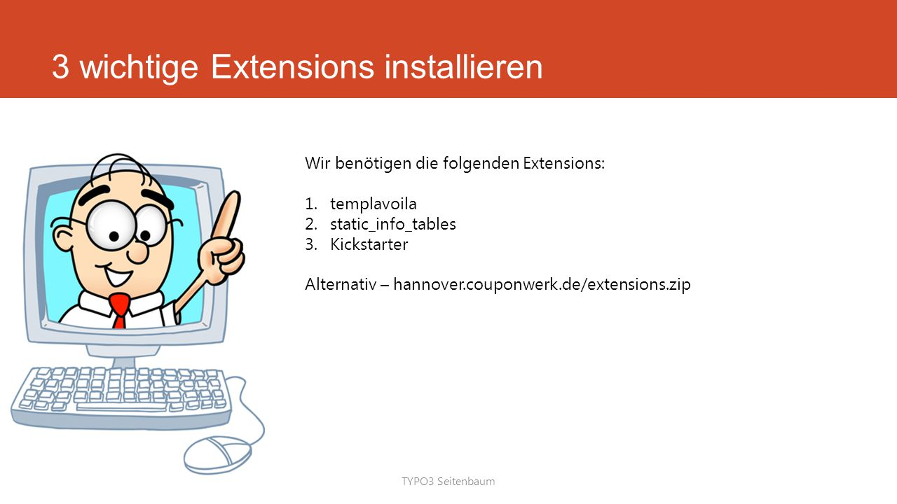 3 wichtige Extensions installieren