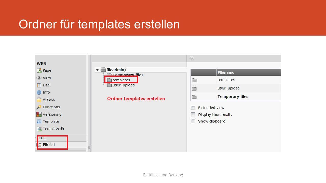 Ordner für templates erstellen