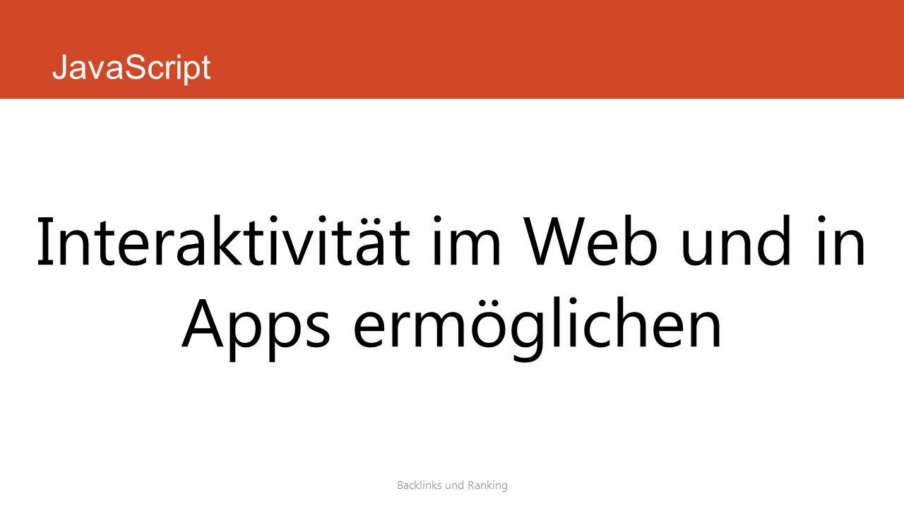 Interaktivität im Web und in Apps ermöglichen