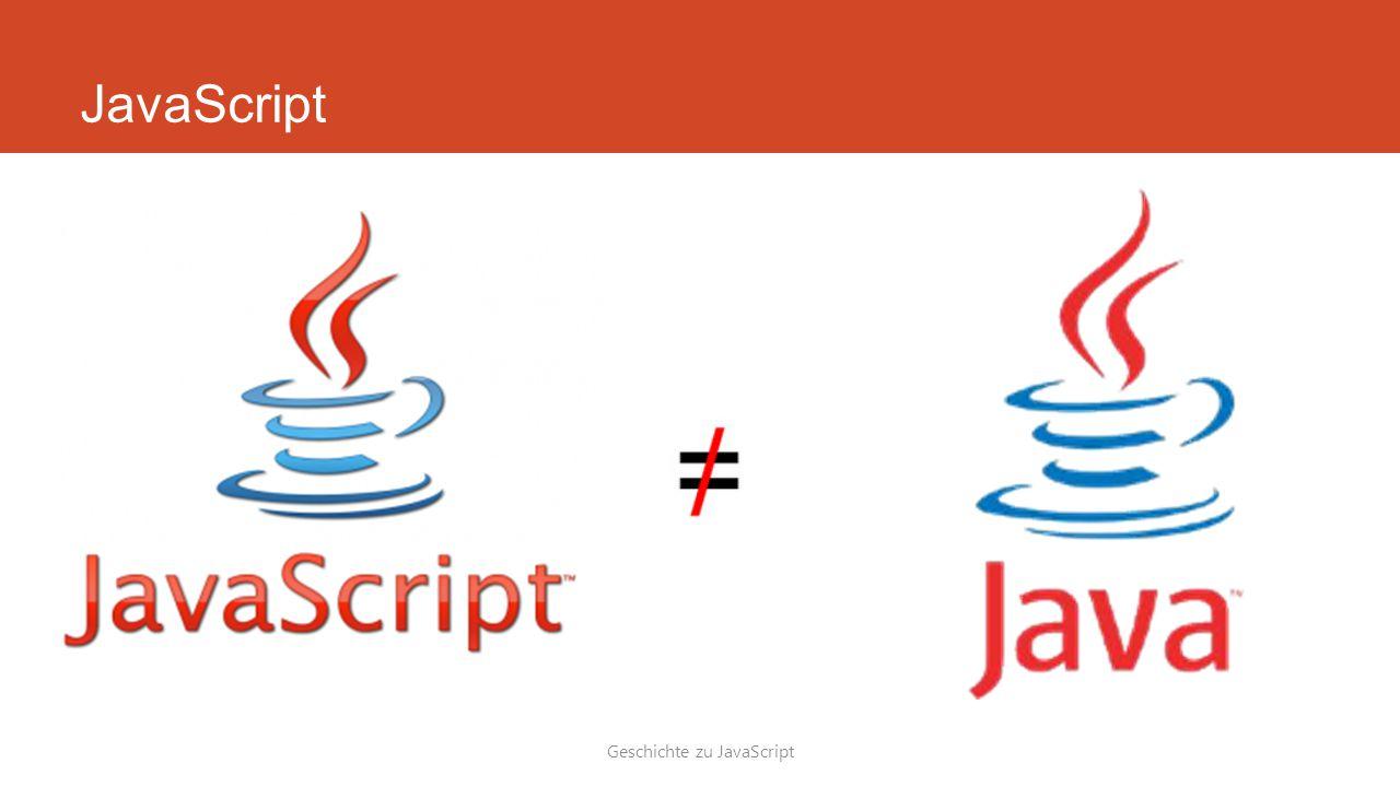 Geschichte zu JavaScript