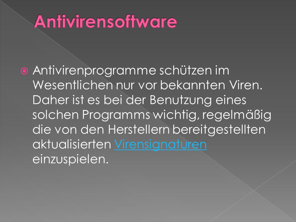 Antivirensoftware