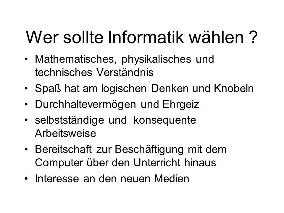 Wer sollte Informatik wählen
