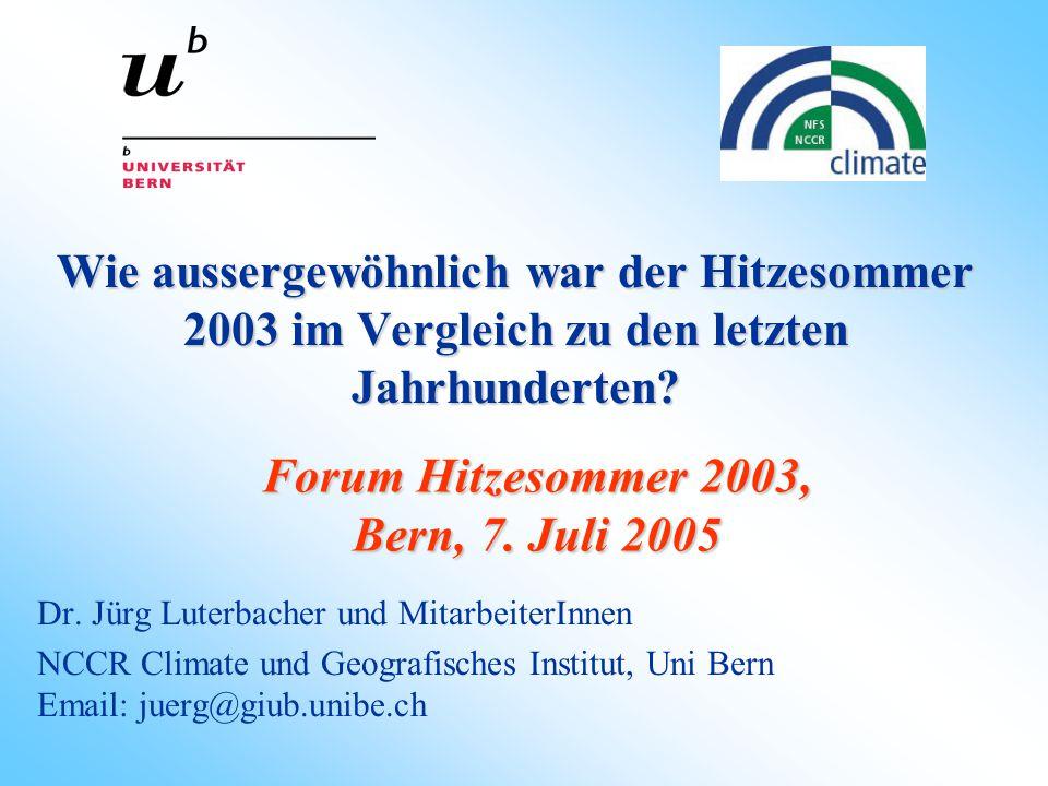 Forum Hitzesommer 2003, Bern, 7. Juli 2005