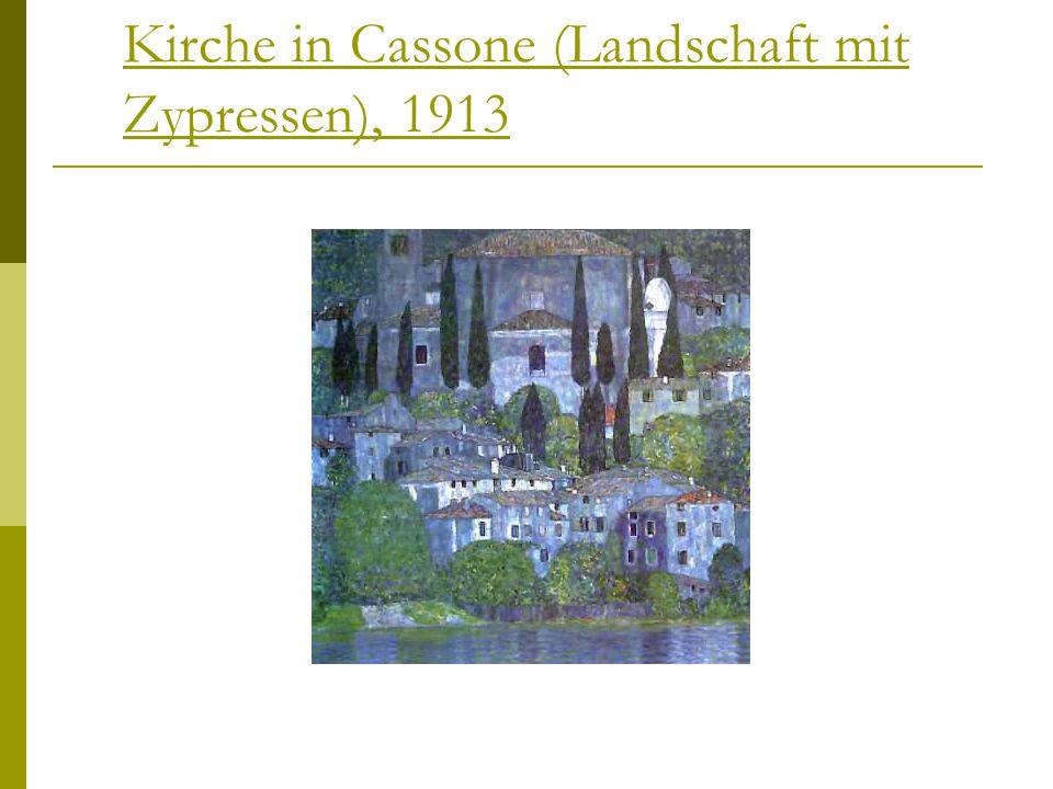 Kirche in Cassone (Landschaft mit Zypressen), 1913