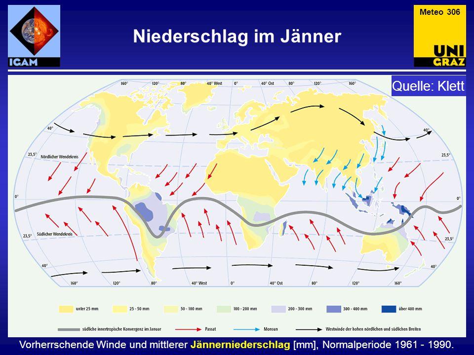 Niederschlag im Jänner