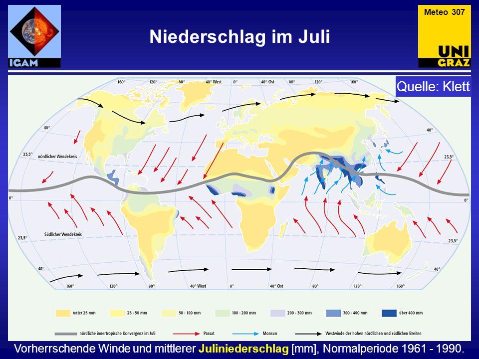 Niederschlag im Juli Quelle: Klett