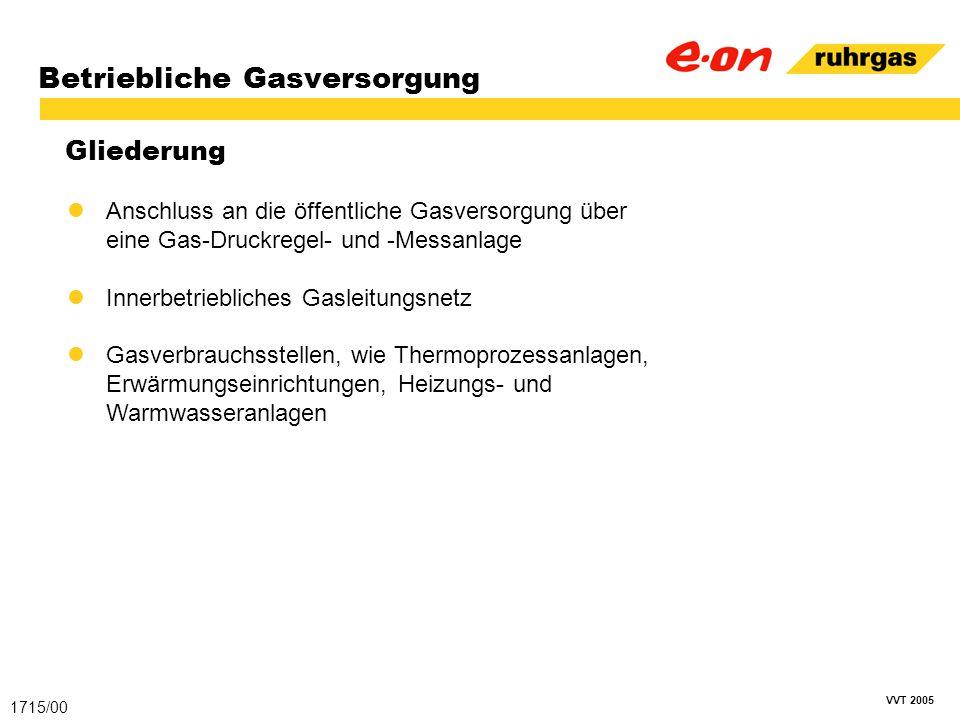 Betriebliche Gasversorgung