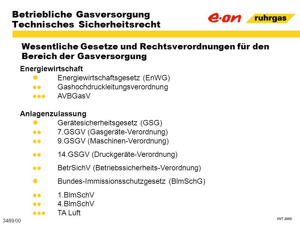 Betriebliche Gasversorgung Technisches Sicherheitsrecht