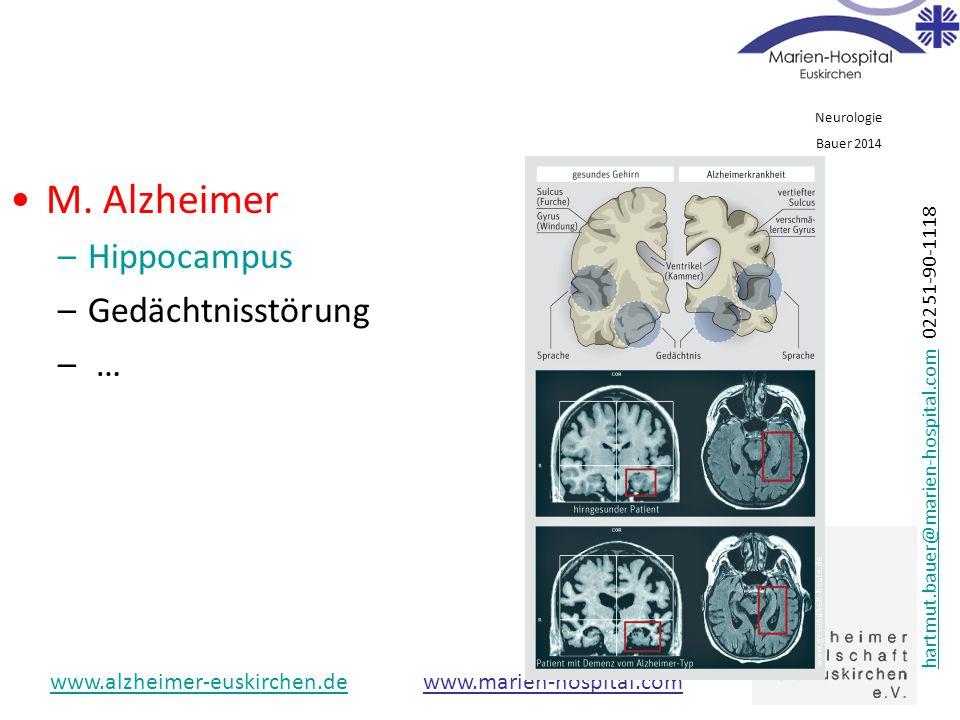 M. Alzheimer Hippocampus Gedächtnisstörung …