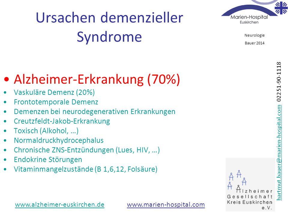 Ursachen demenzieller Syndrome