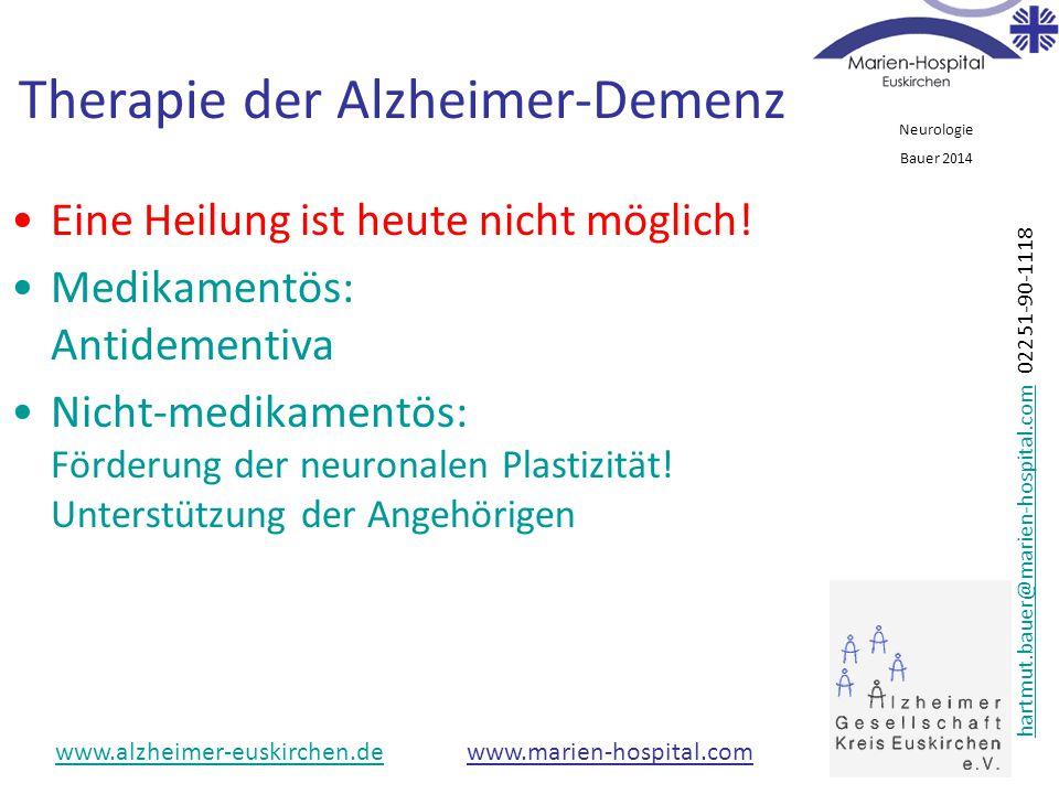 Therapie der Alzheimer-Demenz