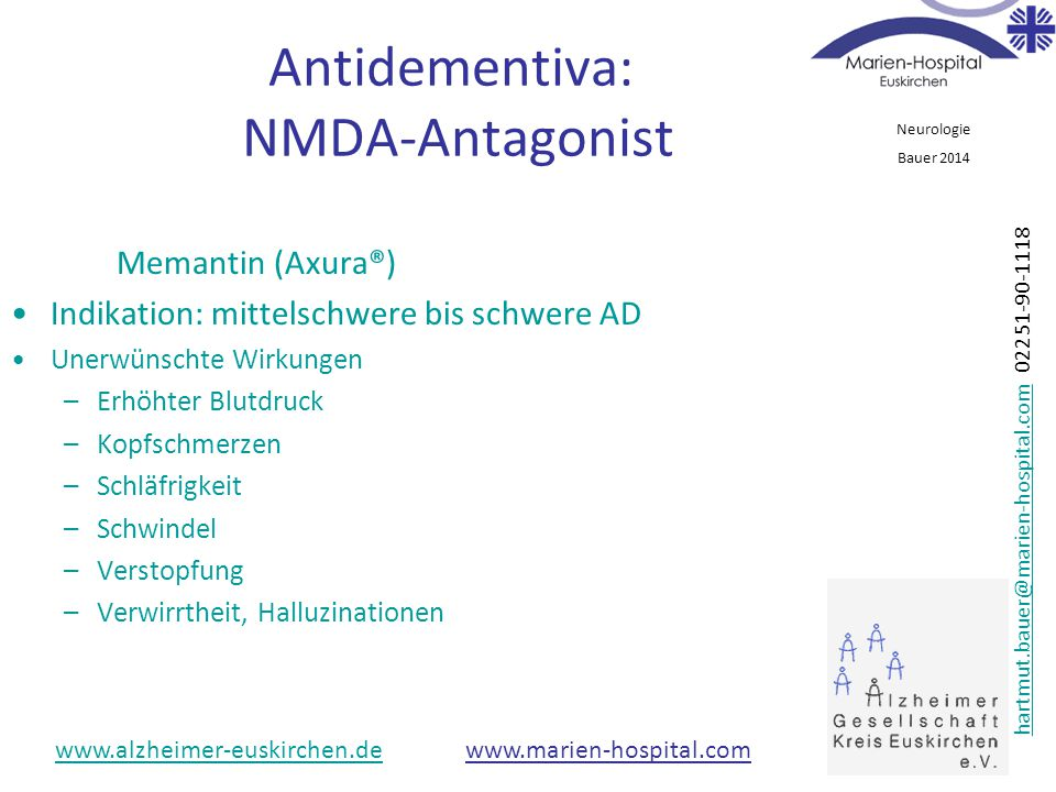 Antidementiva: NMDA-Antagonist