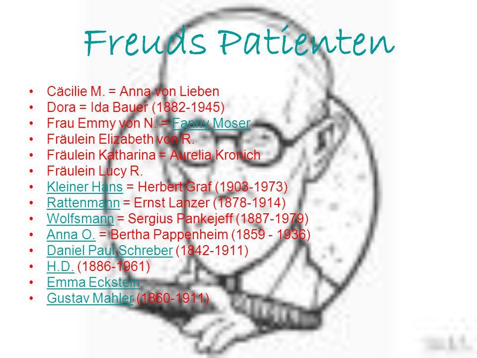 Freuds Patienten Cäcilie M. = Anna von Lieben