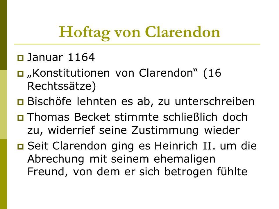 Hoftag von Clarendon Januar 1164