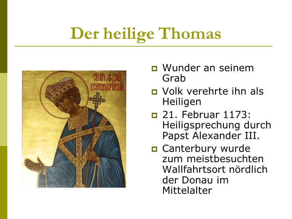Der heilige Thomas Wunder an seinem Grab