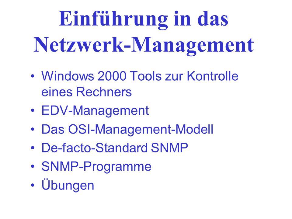 Einführung in das Netzwerk-Management