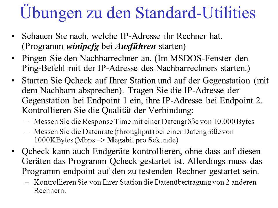 Übungen zu den Standard-Utilities