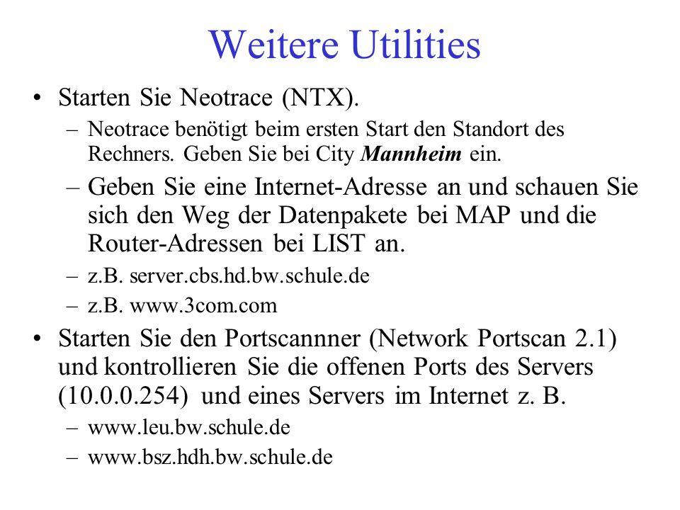 Weitere Utilities Starten Sie Neotrace (NTX).