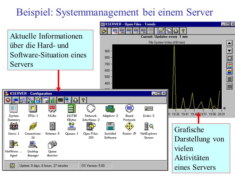 Beispiel: Systemmanagement bei einem Server