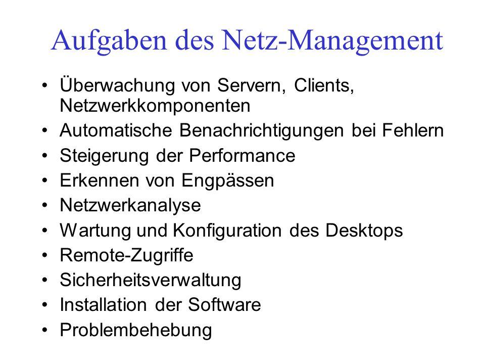 Aufgaben des Netz-Management