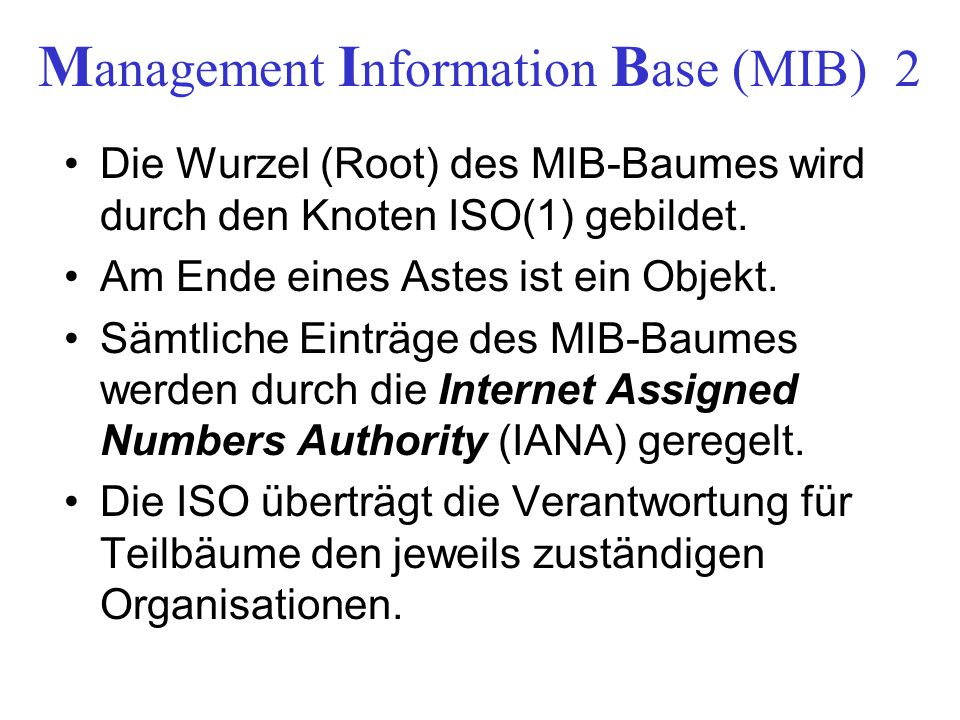 Management Information Base (MIB) 2