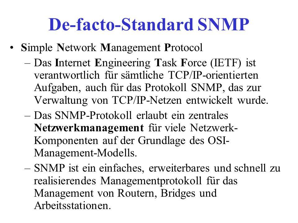 De-facto-Standard SNMP
