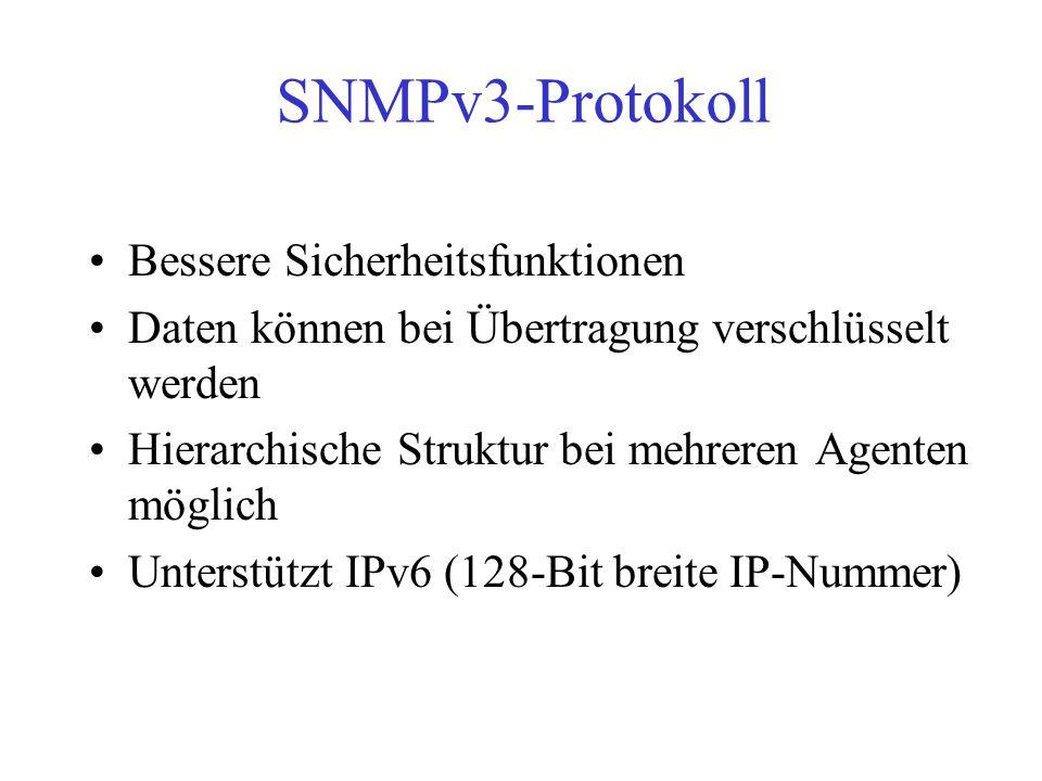SNMPv3-Protokoll Bessere Sicherheitsfunktionen