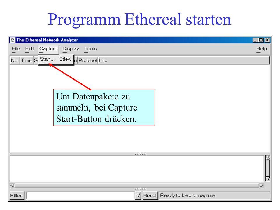 Programm Ethereal starten