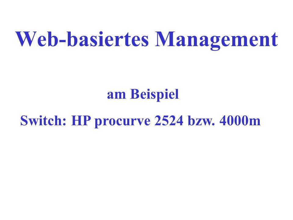 Web-basiertes Management
