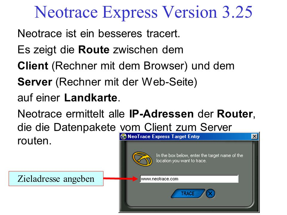 Neotrace Express Version 3.25