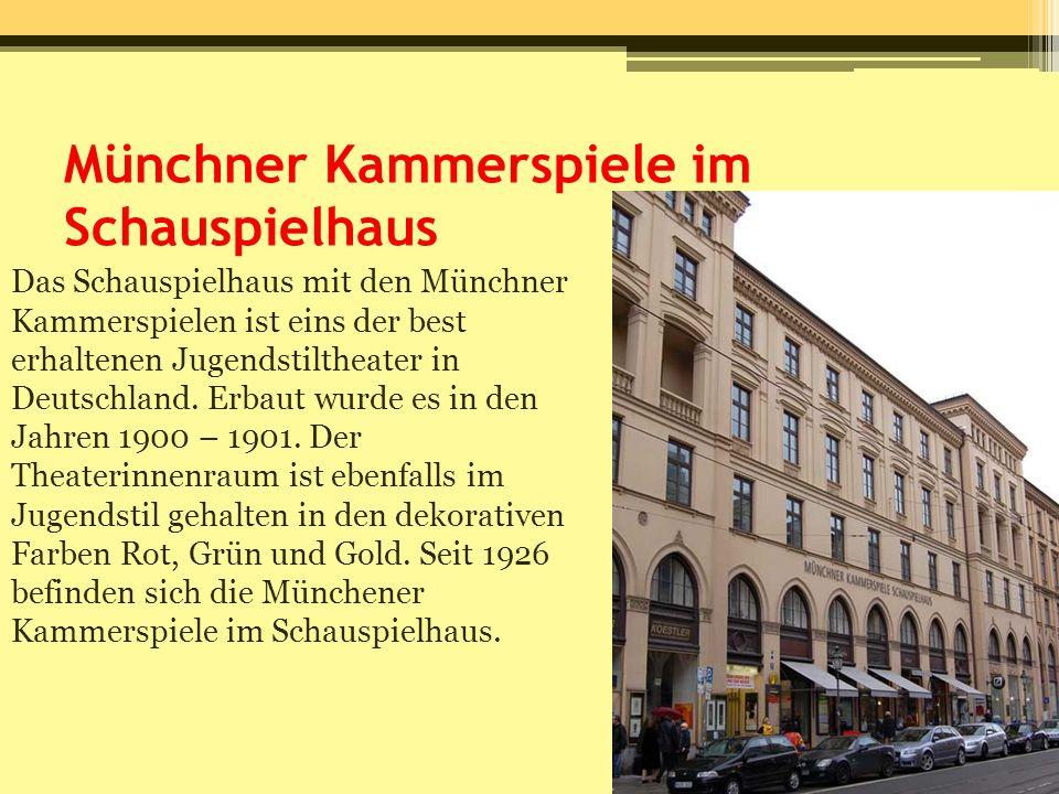 Münchner Kammerspiele im Schauspielhaus