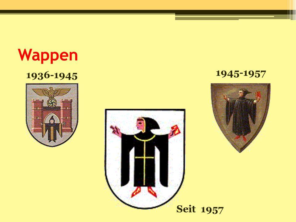 Wappen 1945-1957 1936-1945 Seit 1957