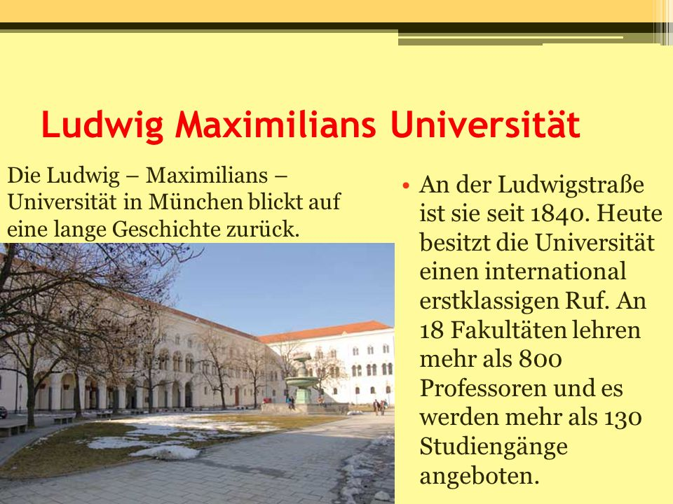 Ludwig Maximilians Universität