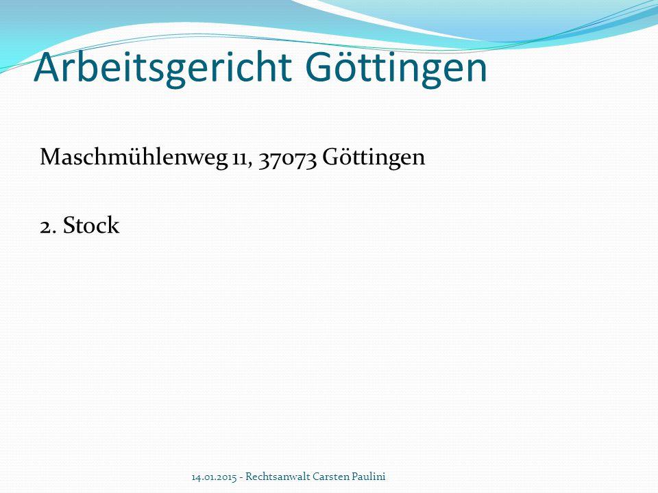 Arbeitsgericht Göttingen