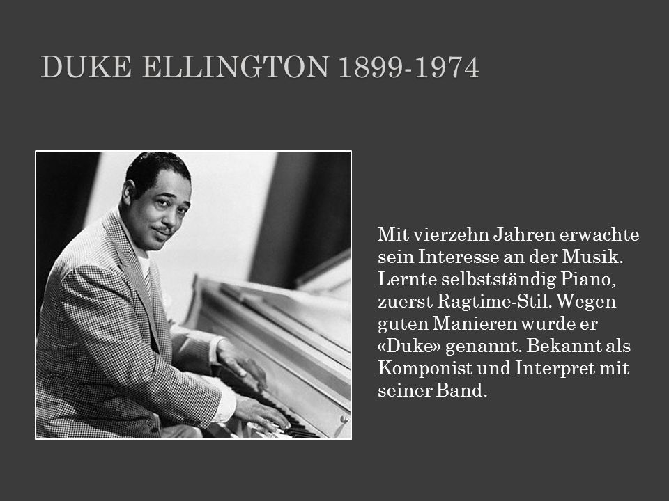 Duke ellington 1899-1974