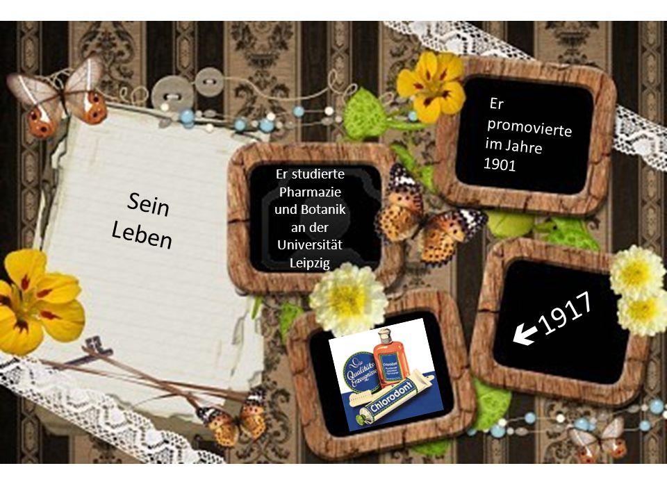 Er studierte Pharmazie und Botanik an der Universität Leipzig