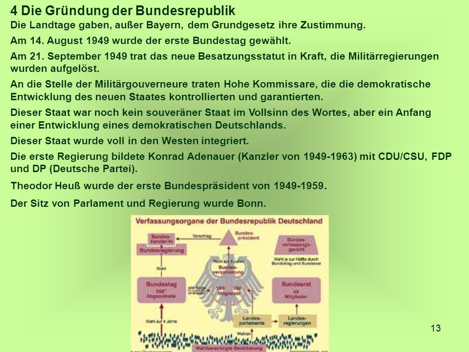 4 Die Gründung der Bundesrepublik
