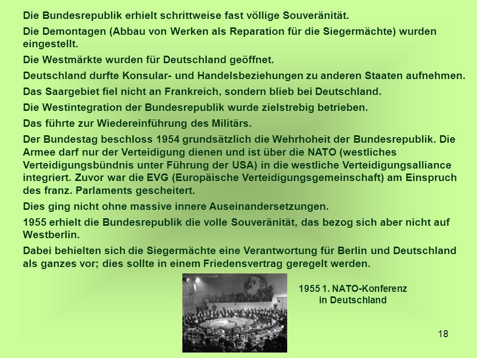 1955 1. NATO-Konferenz in Deutschland