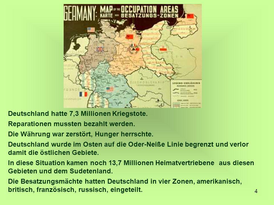 Deutschland hatte 7,3 Millionen Kriegstote.