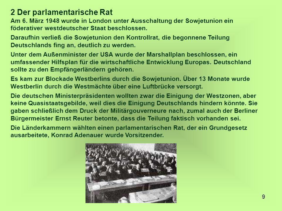 2 Der parlamentarische Rat