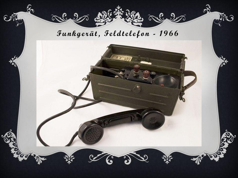 Funkgerät, Feldtelefon - 1966