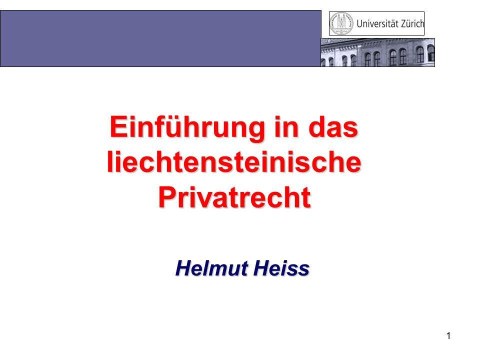 Einführung in das liechtensteinische Privatrecht