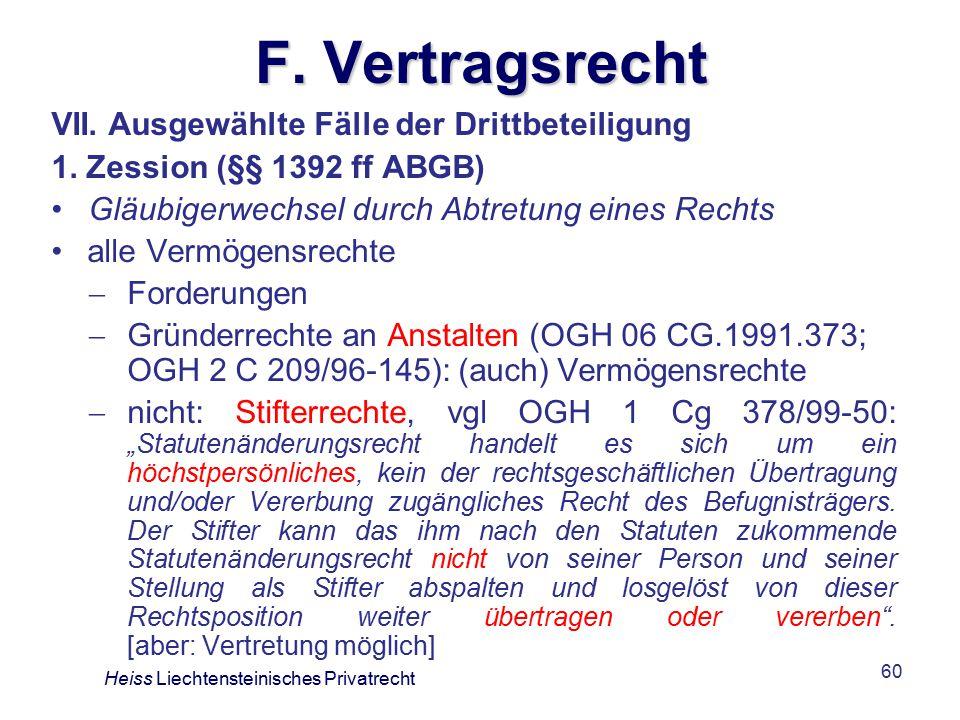 F. Vertragsrecht VII. Ausgewählte Fälle der Drittbeteiligung