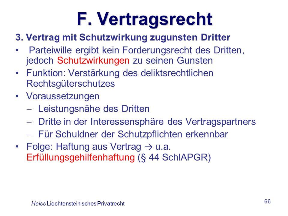 F. Vertragsrecht 3. Vertrag mit Schutzwirkung zugunsten Dritter